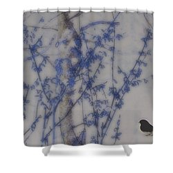 Finding His Way Shower Curtain by Barbara S Nickerson