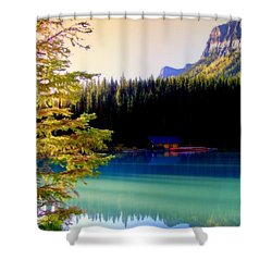Finding Inner Peace Shower Curtain by Karen Wiles