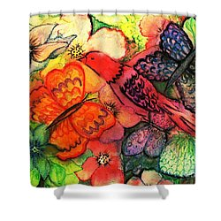 Shower Curtain featuring the painting Finding Sanctuary by Hazel Holland