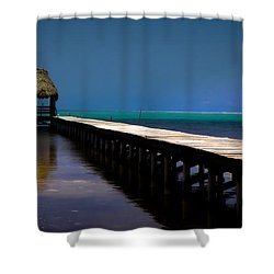 Finding Sanctuary Shower Curtain by Karen Wiles