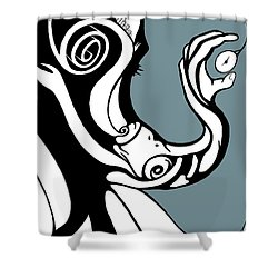 Finding Time Shower Curtain