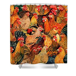 Fine Fowl Shower Curtain by Ditz