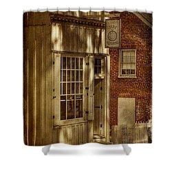 Fine Repairs Shower Curtain by Lois Bryan
