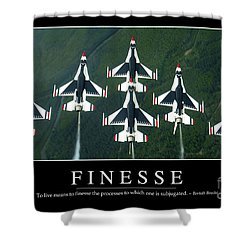 Finesse Inspirational Quote Shower Curtain by Stocktrek Images