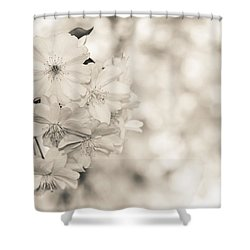 Finest Spring Time - Bw Shower Curtain by Hannes Cmarits
