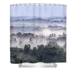 Finger Lakes Morning Shower Curtain