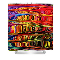 Shower Curtain featuring the digital art Fingerpaint by Mary Bedy