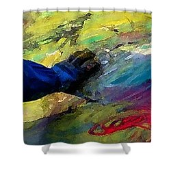 Fingerpainting Shower Curtain by Lisa Kaiser