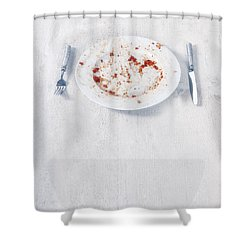 Finished Plate Shower Curtain by Joana Kruse