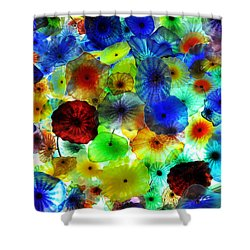 Shower Curtain featuring the photograph Fiori Di Como By Glass Sculptor by Gandz Photography
