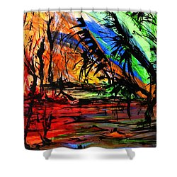 Fire And Flood Shower Curtain