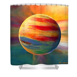 Fire And Ice Ball  Shower Curtain