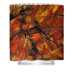 Fire And Ice Shower Curtain by Grace Liberator