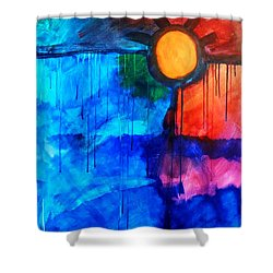 Fire And Ice Shower Curtain by Nancy Merkle