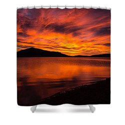 Fire At Dawn Shower Curtain