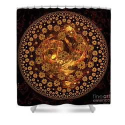 Fire Ball Filigree  Shower Curtain by Elizabeth McTaggart