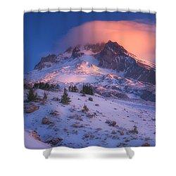 Fire Cap Shower Curtain by Darren  White