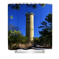 Fct7 Fire Control Tower #7 - Observation Tower Shower Curtain