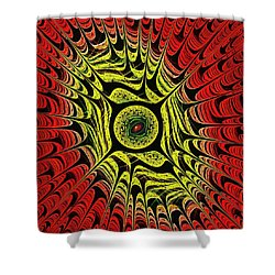 Fire Dragon Eye Shower Curtain by Anastasiya Malakhova