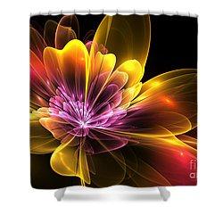Fire Flower Shower Curtain by Svetlana Nikolova