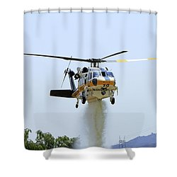 Fire Hawk Water Drop Shower Curtain by Shoal Hollingsworth