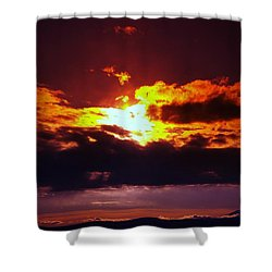 Fire In The Clouds Shower Curtain by Jeff Swan