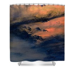 Fire In The Hills Shower Curtain