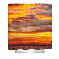 Fire In The Sky Shower Curtain by Brian Boudreau