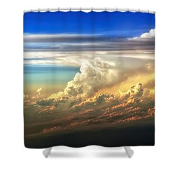 Fire In The Sky From 35000 Feet Shower Curtain