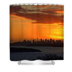 Shower Curtain featuring the photograph Fire In The Sky by Miroslava Jurcik