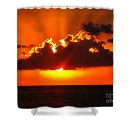 Fire In The Sky Shower Curtain by Patti Whitten