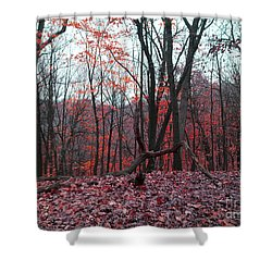 Fire In The Woodland Shower Curtain