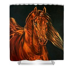Shower Curtain featuring the painting Fire by Leena Pekkalainen