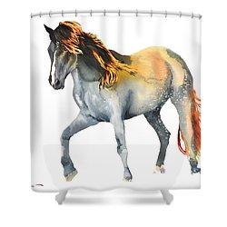 Da110 Fire Mane By Daniel Adams Shower Curtain
