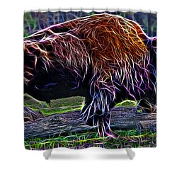 Fire Of A Bison  Shower Curtain