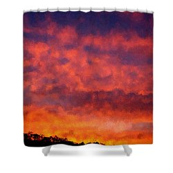 Fire On The Hillside Shower Curtain by Bruce Nutting