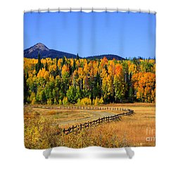 Fire On The Mountain Shower Curtain by Dana Kern