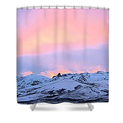 Fire On The Mountain Shower Curtain