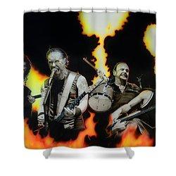Metallica - ' Fire Rain On Me ' Shower Curtain by Christian Chapman Art
