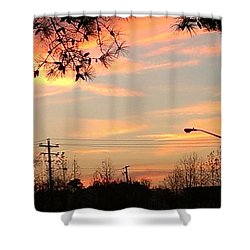 Shower Curtain featuring the photograph Fire Sky by Thomasina Durkay