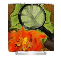 Fire Starter Shower Curtain by Christine Fournier