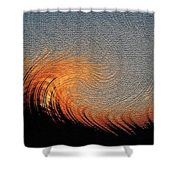 Fire Storm Shower Curtain