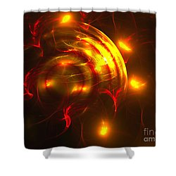 Shower Curtain featuring the digital art Fire Storm by Victoria Harrington