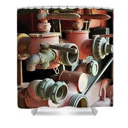 fire Truck valves 20x20 Shower Curtain