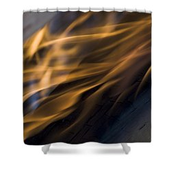 Shower Curtain featuring the photograph Fire by Yulia Kazansky