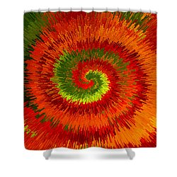 Fireburst Extrusion Shower Curtain