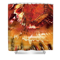 Shower Curtain featuring the painting Fired by Jason Girard