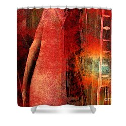 Shower Curtain featuring the painting Firefall  by Yul Olaivar