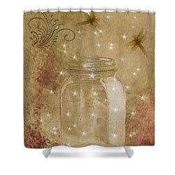 Fireflies And Dragonflies Shower Curtain