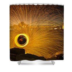 Fireflies Shower Curtain by Andrew Paranavitana